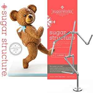 Innovative Sugarworks Sugar Structures, Reusable Running 2 Legged Kit Cake Support Structure, Food-Safe Aluminum Cake Decorating Armature Frame for Wedding Cakes, Birthday Cakes, and More