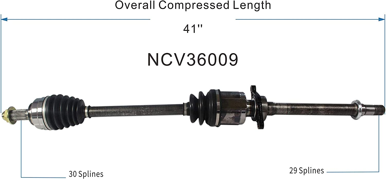 Passenger Side GSP NCV36009 CV Axle Shaft Assembly for Select 2011-16 Honda Odyssey Front Right