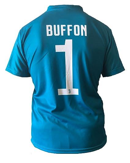 Camiseta Jersey Futbol Juventus Gianluigi Buffon 1 Replica Autorizado 2017-2018 Niños Adultos (Talla