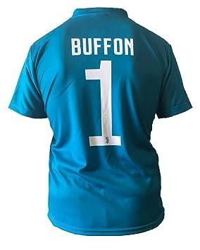 Camiseta Jersey Futbol Juventus Gianluigi Buffon 1 Replica Autorizado 2017-2018 Niños Adultos: Amazon.es: Deportes y aire libre