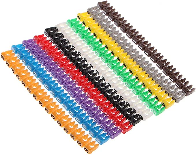 GTIWUNG 175Pcs Nylon C/âble Zip Liens /étiquettes Marqueur Verrouillage Automatique avec 320Pcs /étiquettes pour la Gestion des c/âbles,marquer et organiser le fil