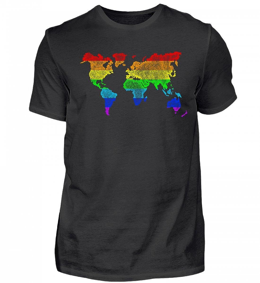 Regenbogen Weltkarte Worldmap - Geschenke für Schwule LGBT T-Shirt ...