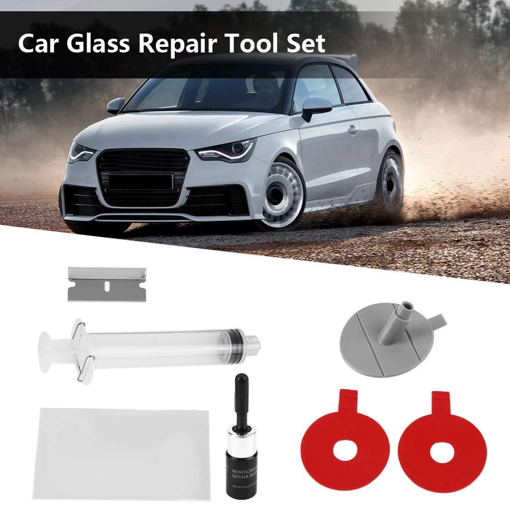 Qiilu Car Glass Repair Tool Aolvo Parabrisas Kit de reparación DIY Parabrisas del Coche Parabrisas Chip Kit de reparación: Amazon.es: Electrónica