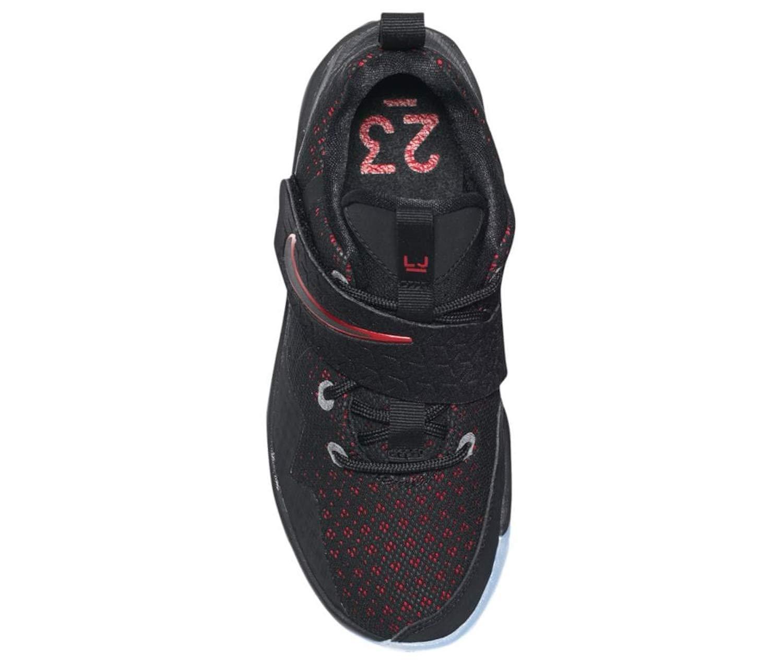 NIKE Kid's Lebron XIV GS Basketball Shoes (Black/Black/University Red, 7 Big Kid US) by Nike (Image #3)