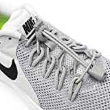 Elastic No Tie Shoelaces for Kids and Adults, Durable with No Tie Elastic System, Best Lock Shoelaces for Running and Walking Shoes, Ideal for Runners and Sneakers.Fit Most Shoes,Replacement Choice