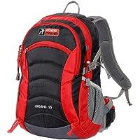 FreeCamp Opie Trekking Trekking Sırt Çantası, Unisex, Siyah-Gri-Kırmızı, 25 L