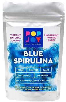 POPJOY 100% Blue SPIRULINA Powder