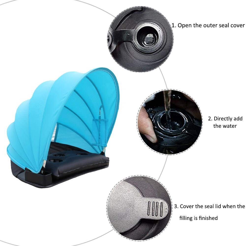 prokthアウトドアビーチ個人Sun保護傘Mini Personal面Shade PVC Cold Protectionテントの夏ビーチ傘2 – 3 persons B07F9VQK73 ブルー