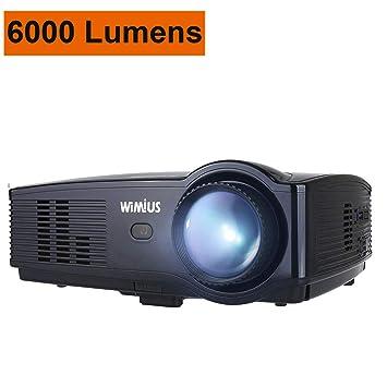 Proyector WiMiUS, 4200 lúmenes Full HD 1080P y Pantalla de 200 ...