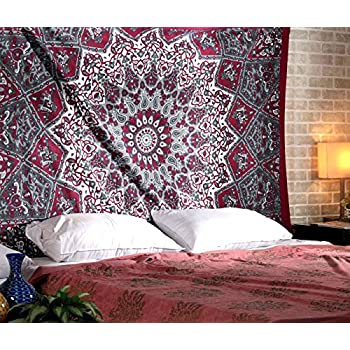 twin elephant tapestry hippie hippie mural union bohemian mandala cotton dorm. Black Bedroom Furniture Sets. Home Design Ideas