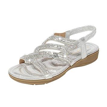 e9faefd547f54 Amazon.com: ❤ Sunbona Women's Wedges Slippers Ladies Summer ...