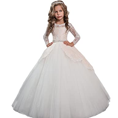 cd0c728c14d Vintage Lace Child Pageant Dress Cream Ball Gown Girls First Communion Dress  Size 2