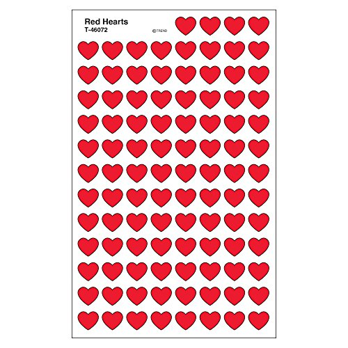 Price comparison product image Trend Enterprises Red Hearts Super Shapes Stickers (T-46072)