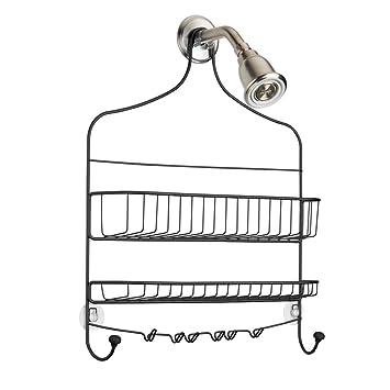 Amazon.com: InterDesign Cero Wide Bathroom Shower Caddy with Storage ...