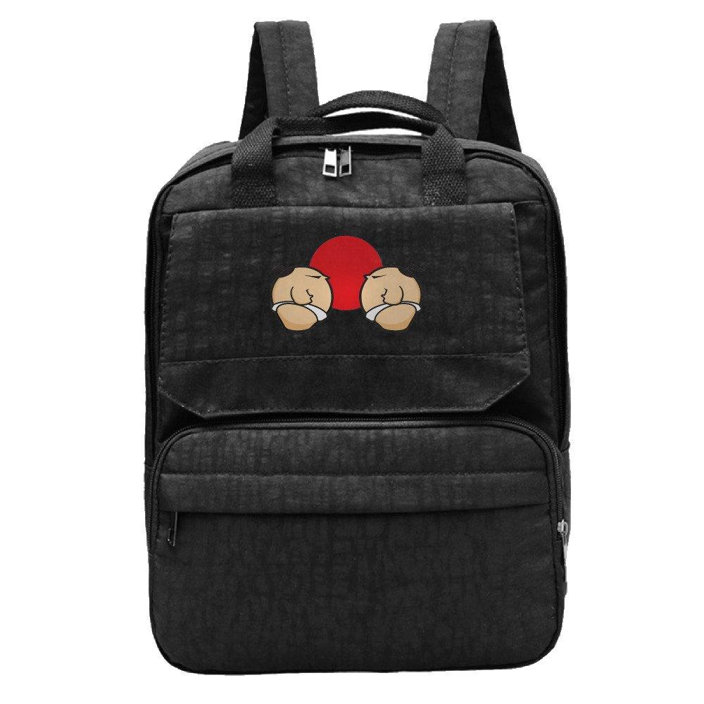 Sumo Wrestling Match Backpack For Women,Girls Leisure Handbag by RZWD06