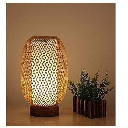 Lámpara de mesa de bambú elegante, lámpara de escritorio ...