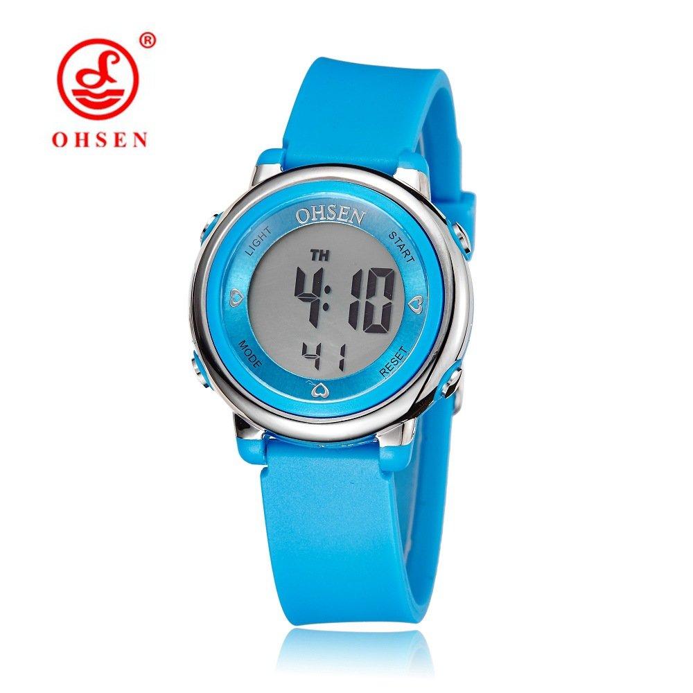 Etbotu Unisex Kids Multi-function Outdoor Round Dial Siliconce Strap Digital Watch with EL Blacklight
