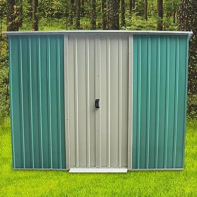 furniture-uk-shop-6-x-4ft-Metal-Garden-Apex-Roof-Storage-Shed