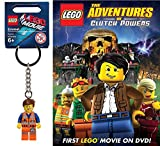 Lego Adventures of Clutch Powers DVD & Lego Emmet Mini Figure Key Chain Image