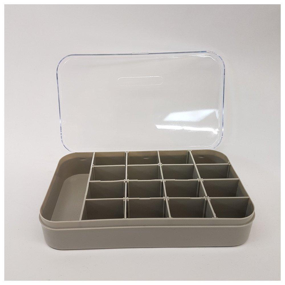 Dönges Kunststoffkasten V9-10-2-1-3-1, Maße 18x12x4 cm, durchsichtig