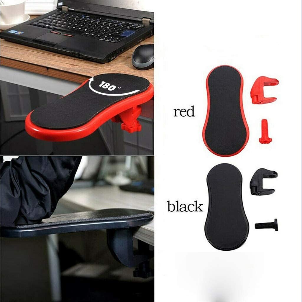 Ergonomic Design Arm Rest Pad for Elbow Black for Home/& Office Sturdy Mouse Arm Rest Computer Arm Rest Support for Desk and Chair Adjustable Wrist Rest Extender Desk Extender for Computer