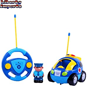 Best Cartoon R/C Police Car Radio Control Toy for Toddlers