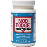 Mod Podge Waterbase Sealer, Glue and Finish for Fabric (8-Ounce), CS11218, Clear