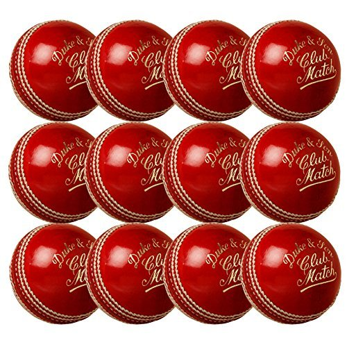 1 Dozen Dukes Club Match Cricket Balls 156g Men's by Club Match by Club Match