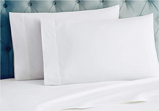 2 new white standard size hotel pillowcase 20x30 200 thread count 100/% cotton