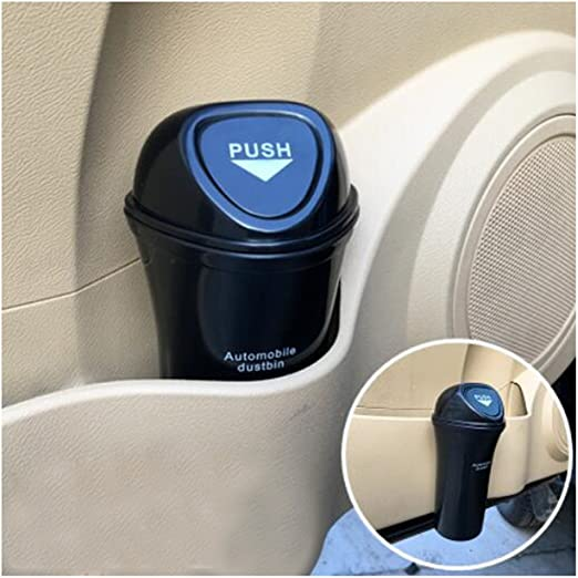 Tidy Car Bin Auto Trash Can Garbage Can Litter Waste Bag Ashtray ~Blue US SELLER