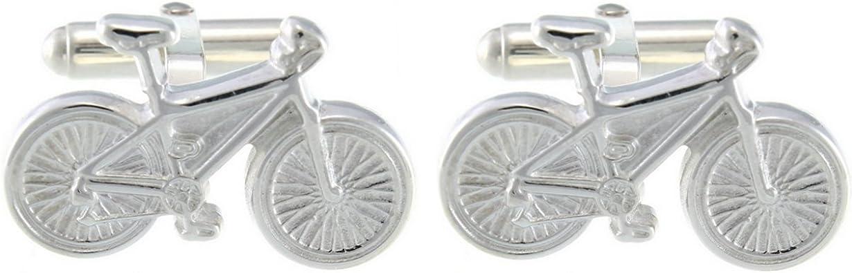 Broche de plata de ley para bicicleta de gemelos y caja de regalo ...