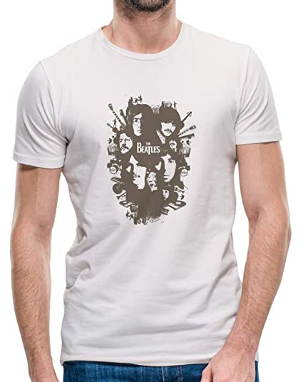 Mankitees The Beatles Group Band Face Classic Rock T Shirt