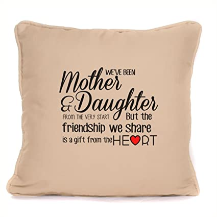 mothers day gift for mum mother daughter friendship cushion pillow cover 18 x