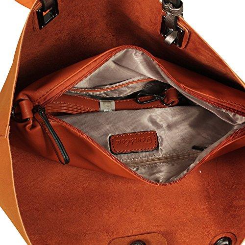 Tom & Eva donna borsa a tracolla con borsa extra 17E 1589 marrone