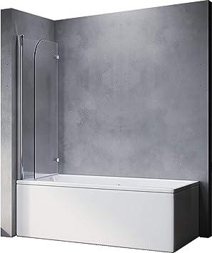 Elegant Duschtrennwand 120x140 Cm Bxh Duschwand Fur Badewanne Badewannenfaltwand 2 Teilig Faltbar 6 Mm Nano Glas Duschabtrennung Badewanne Amazon De Baumarkt