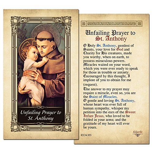 The 10 best st anthony prayer card 2019