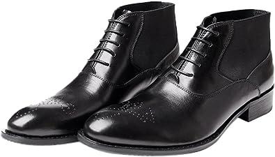 Santimon Mens Boots Lace-up Chelsea