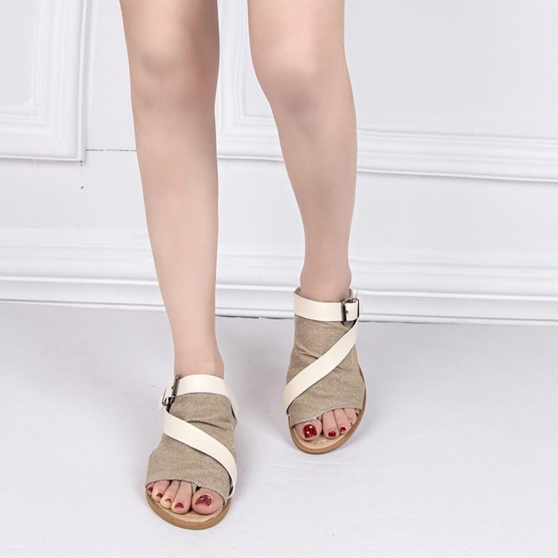 SANFASHION Bekleidung SANFASHION Damen Schuhe 144155 - Romana de Lona Mujer, Color Multicolor, Talla 40 EU: Amazon.es: Ropa y accesorios