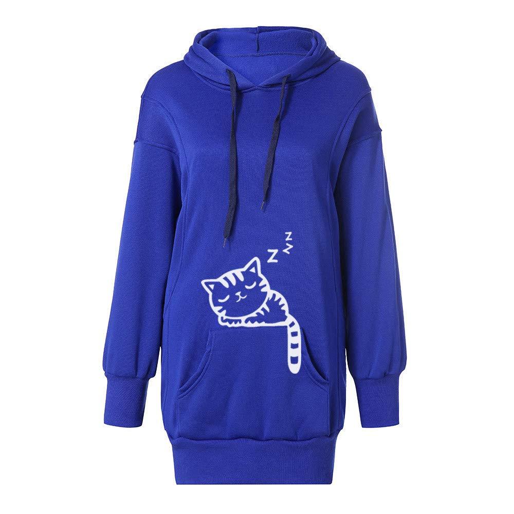 Damen Sweatshirt Kapuzenpullover Freizeit-Pullover Pullover Oberteile BLUSE