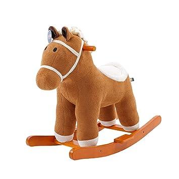 Caballitos de madera Caballo de caballo de Trojan para niños silla mecedora casera Juguetes de uso ...