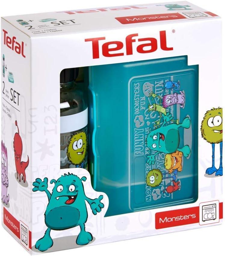 Tefal Niños Fiambrera y Bebidas Botella Monster Diseño