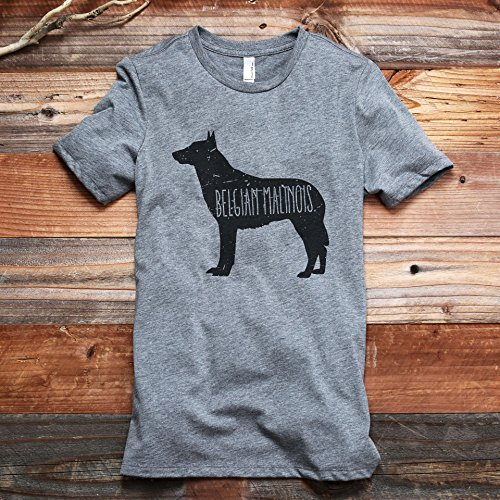 Thread Tank Belgian Malinois Dog Silhouette Women's Fashion Relaxed T-Shirt Tee Heather Grey