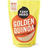Tiny Hero Golden Quinoa, 5 lb. Bag, Non-GMO Verified, Canadian Grown, Complete Protein Whole Grain, Gluten Free, Kosher, Prewashed Ready to Cook