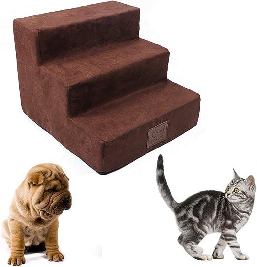 Pasos para Perros para Cama Alta 3 Pasos Escaleras para Mascotas Perros Pequeños Gatos Escalera De Rampa Portátil: Amazon.es: Hogar