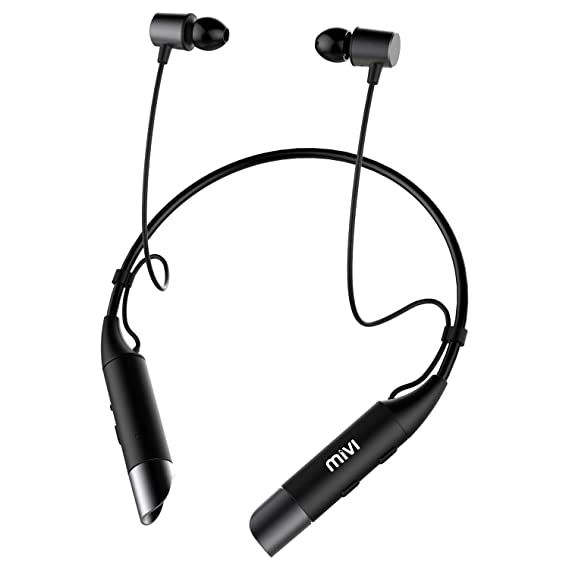 7dc3f8297c2 Mivi Collar Wireless Neck Band Bluetooth Earphone - Black: Amazon.in ...