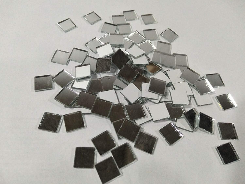 10 mm Silver Piastrelle quadrate a mosaico in vetro a specchio decorazione da tavolo per artigianato