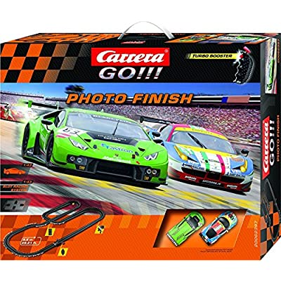Carrera GO!!! Photo Finish 1:43 Scale Electric Powered Slot Car Race Track Set System 28 Feet: Toys & Games