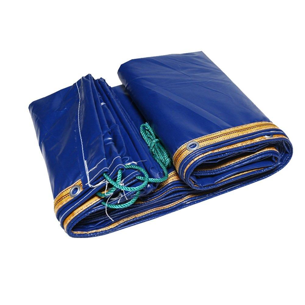 HF 防水用タパリンポリ塩化ビニル両面防水日除けキャンバス日除け耐性カバークロス屋外用、420g/m²、厚さ0.35mm& (色 : Blue, サイズ さいず : 3X3m) B07FL1V2L4  Blue 3X3m