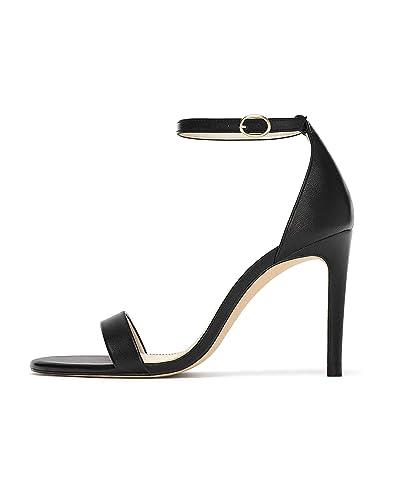 25ed6b25c92 Zara Women s Black Leather Sandals 6944 301  Amazon.co.uk  Shoes   Bags