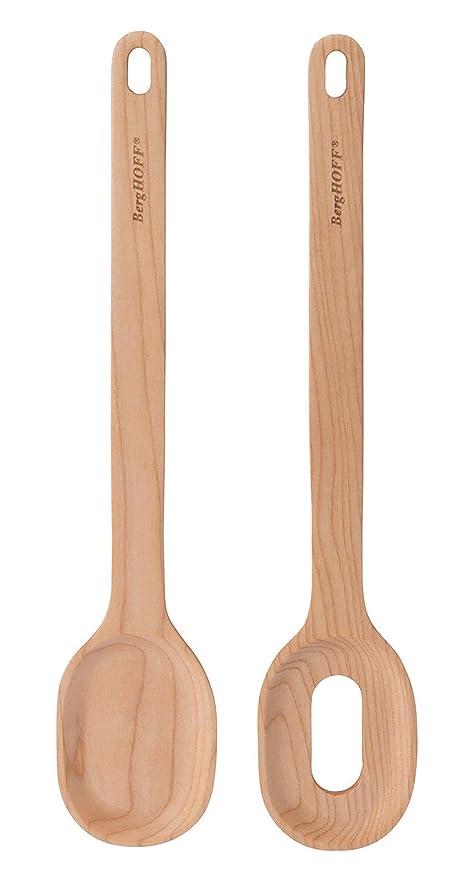 Berghoff 3950112 - Cubiertos para ensalada de madera